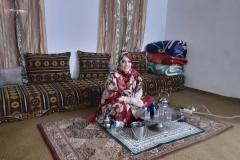 Fatimatu making tea