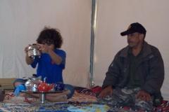 Seif making tea